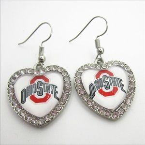 🦋2/$16🦋 Ohio State Heart Earrings ❤️
